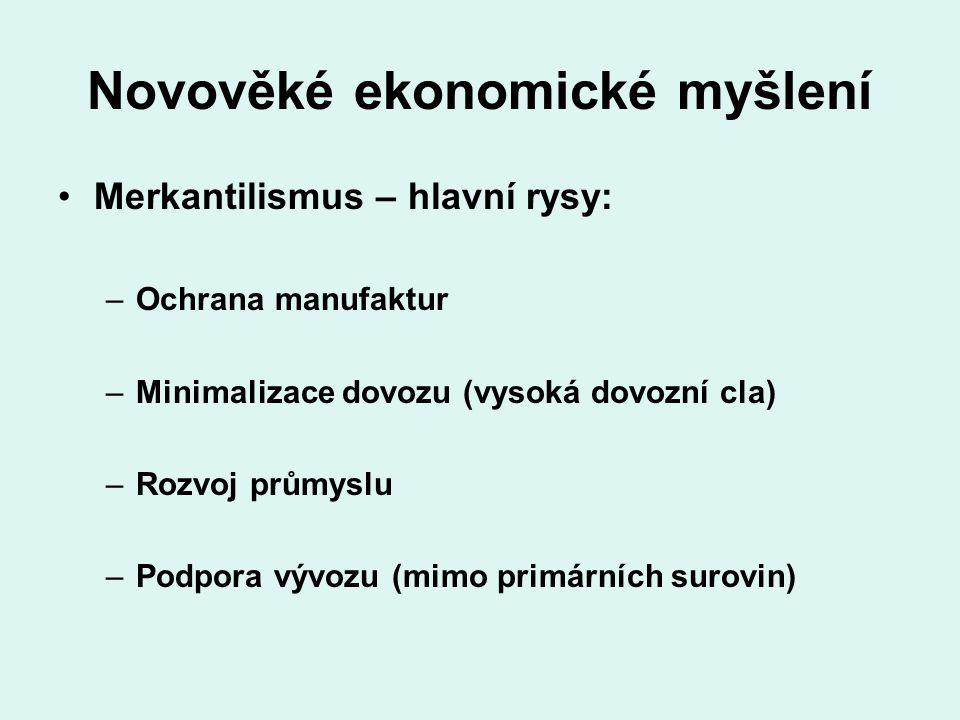 Novověké ekonomické myšlení