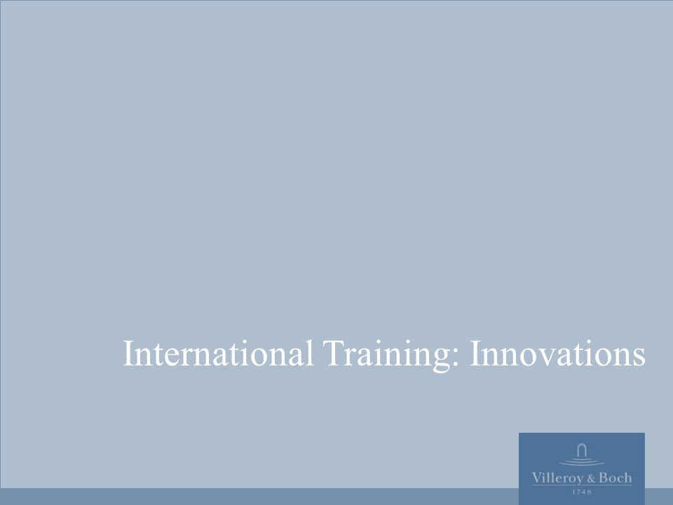 International Training: Innovations