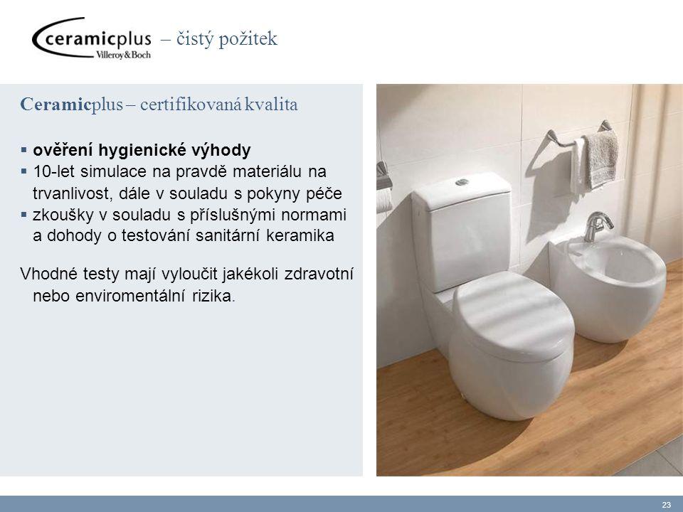 – čistý požitek Ceramicplus – certifikovaná kvalita