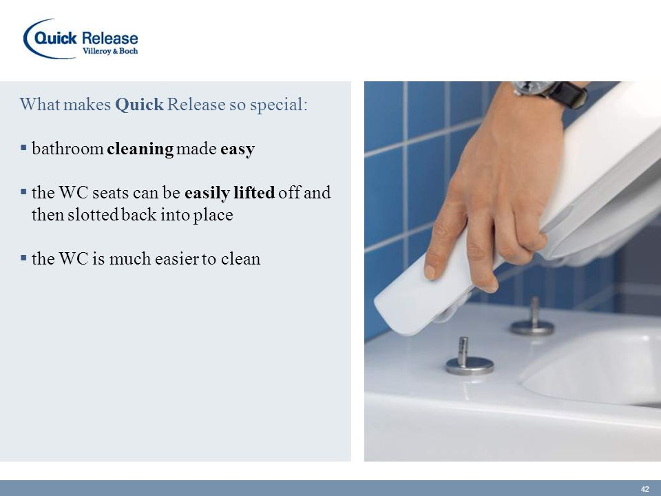 What makes Quick Release so special: bathroom cleaning made easy