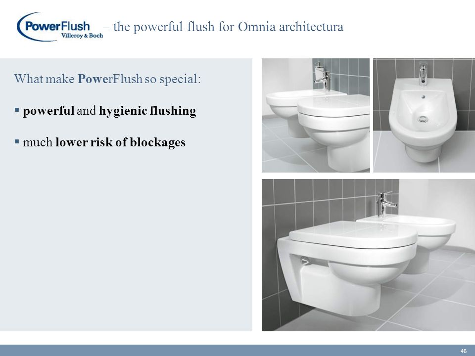 – the powerful flush for Omnia architectura