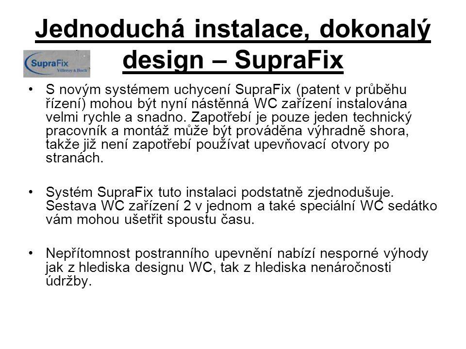 Jednoduchá instalace, dokonalý design – SupraFix