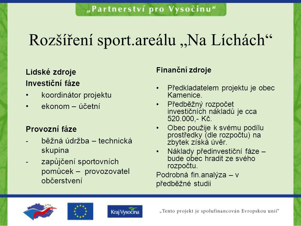 """Rozšíření sport.areálu """"Na Líchách"""