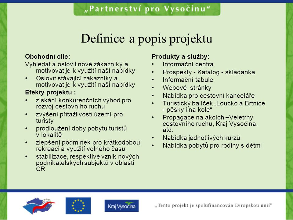 Definice a popis projektu