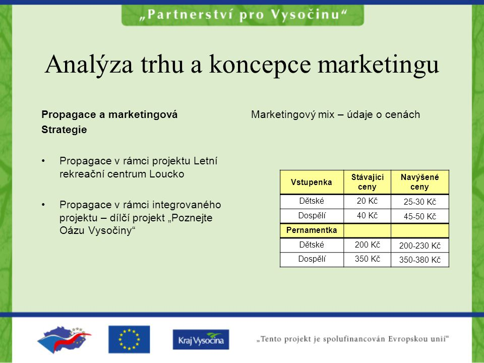 Analýza trhu a koncepce marketingu