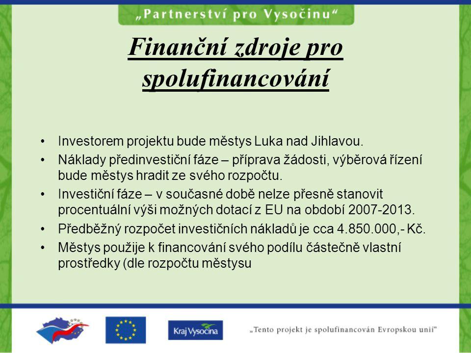 Finanční zdroje pro spolufinancování