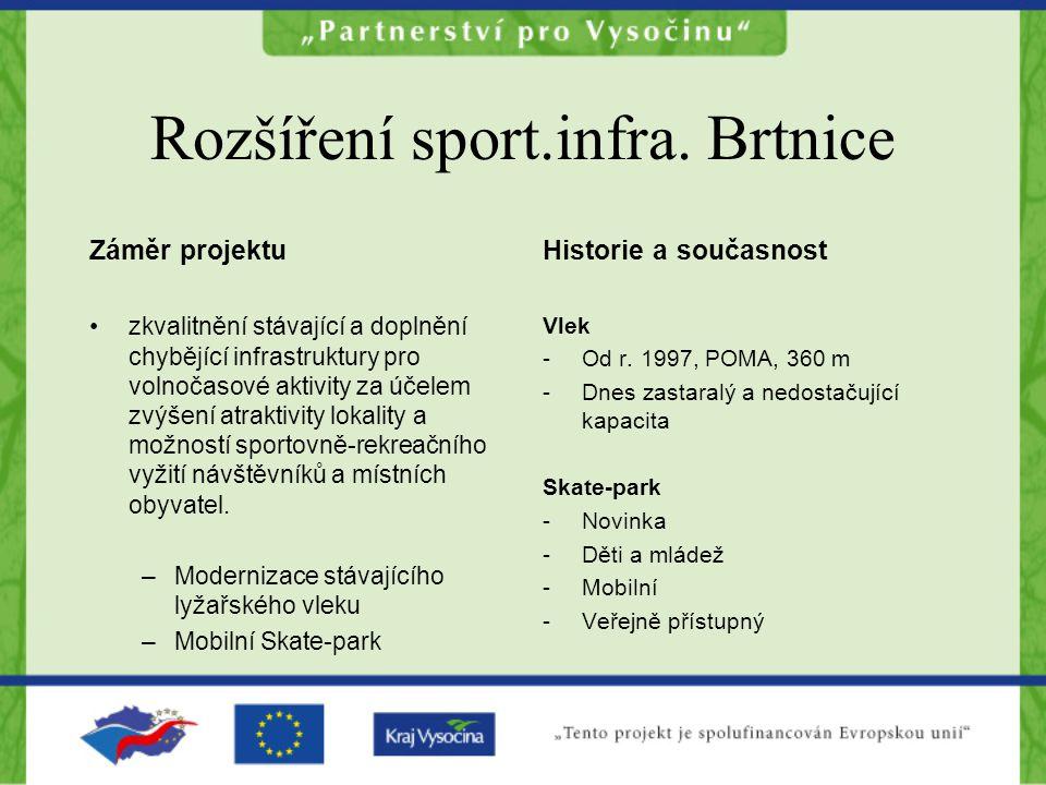 Rozšíření sport.infra. Brtnice