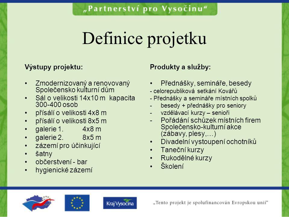 Definice projetku Výstupy projektu: