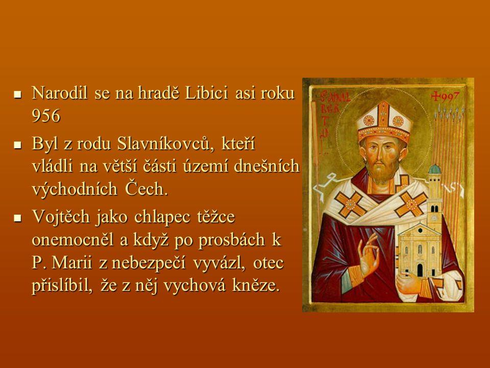 Narodil se na hradě Libici asi roku 956