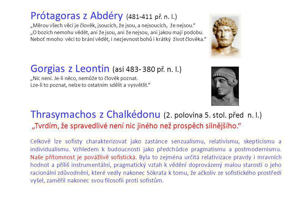 Prótagoras z Abdéry (481-411 př. n. l.)