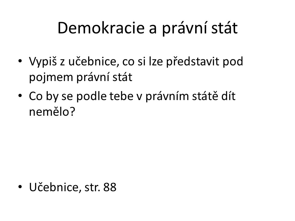Demokracie a právní stát