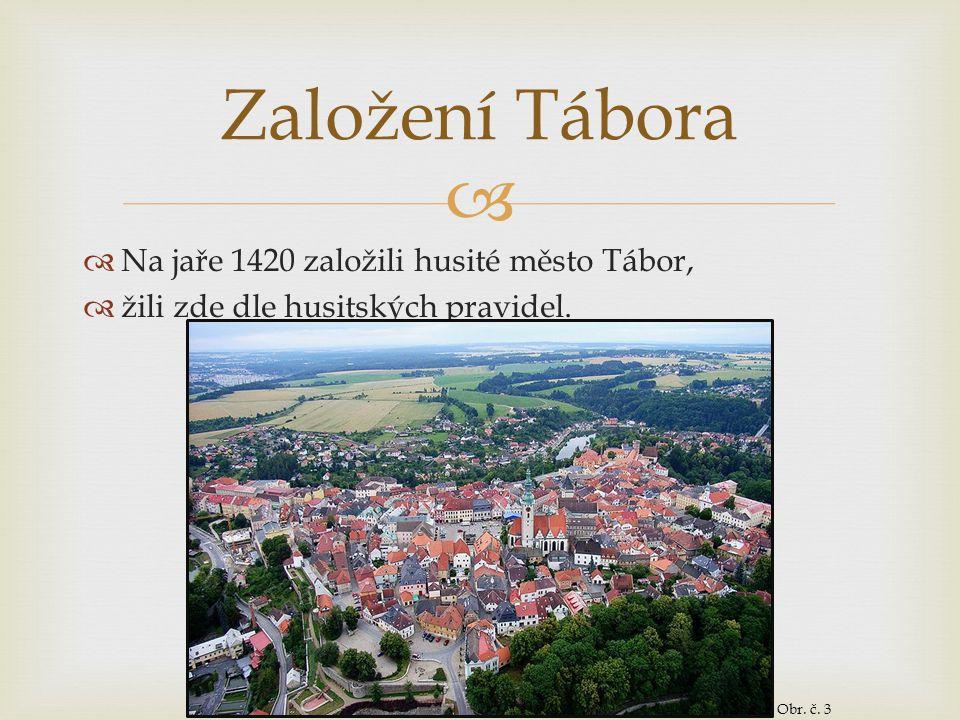 Založení Tábora Na jaře 1420 založili husité město Tábor,