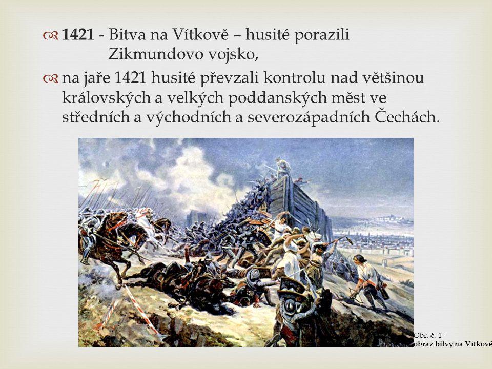 1421 - Bitva na Vítkově – husité porazili Zikmundovo vojsko,