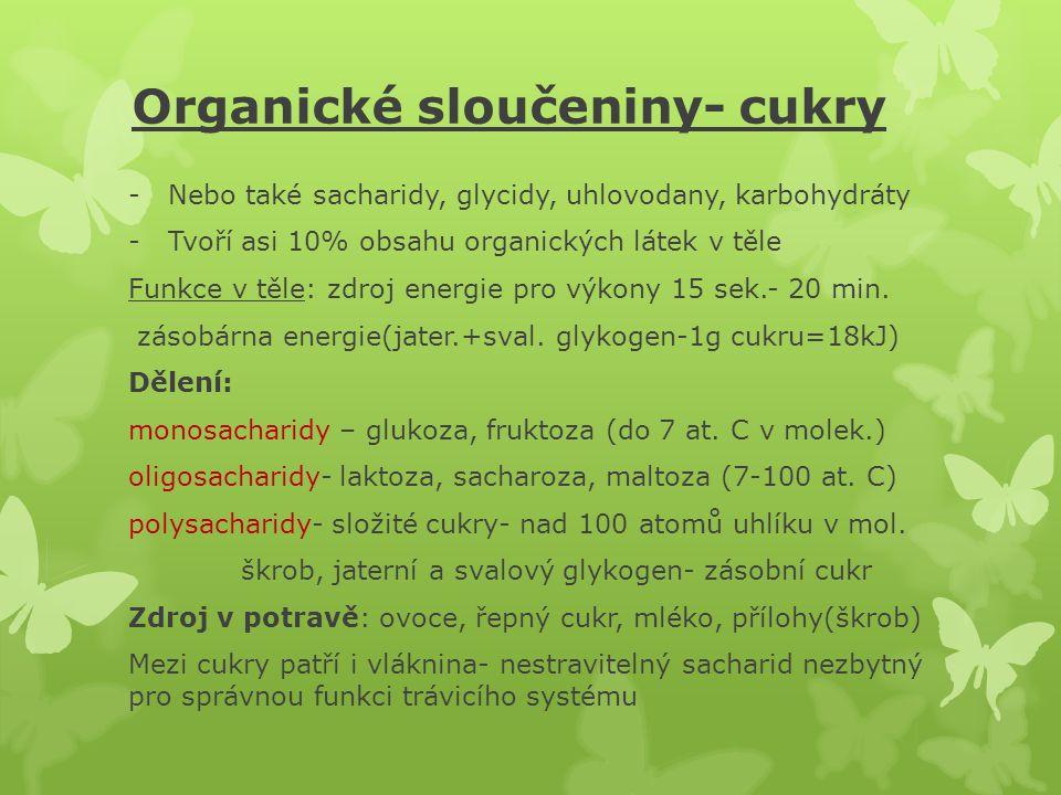 Organické sloučeniny- cukry