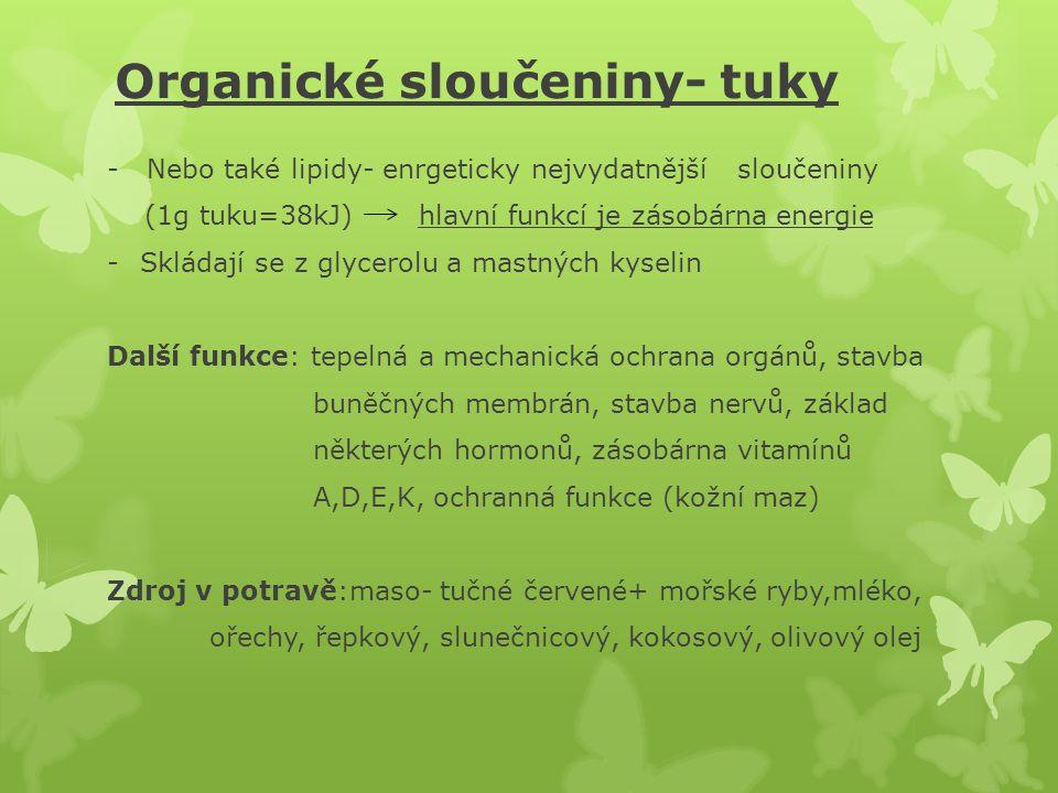 Organické sloučeniny- tuky