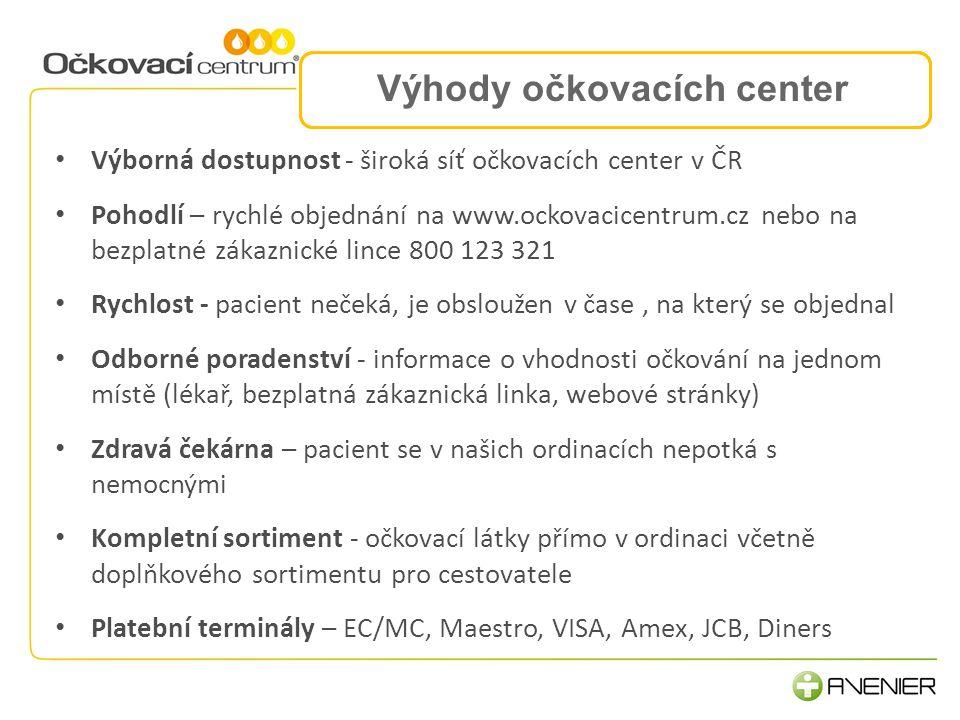 Výhody očkovacích center