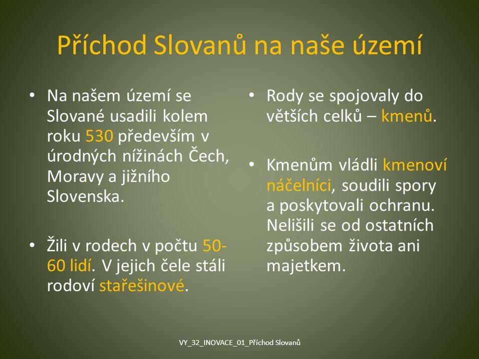 Příchod Slovanů na naše území