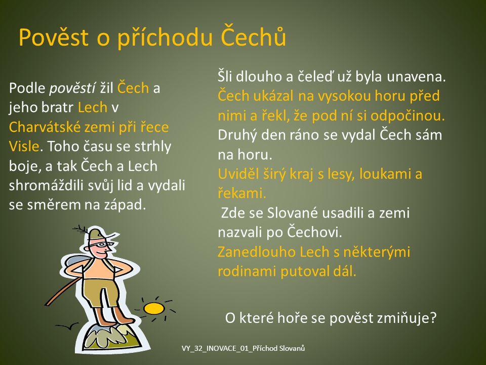 Pověst o příchodu Čechů