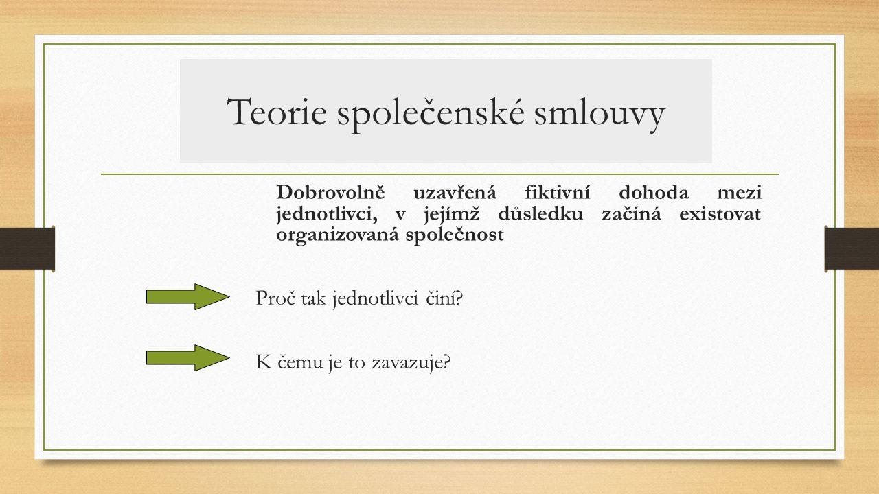 Teorie společenské smlouvy