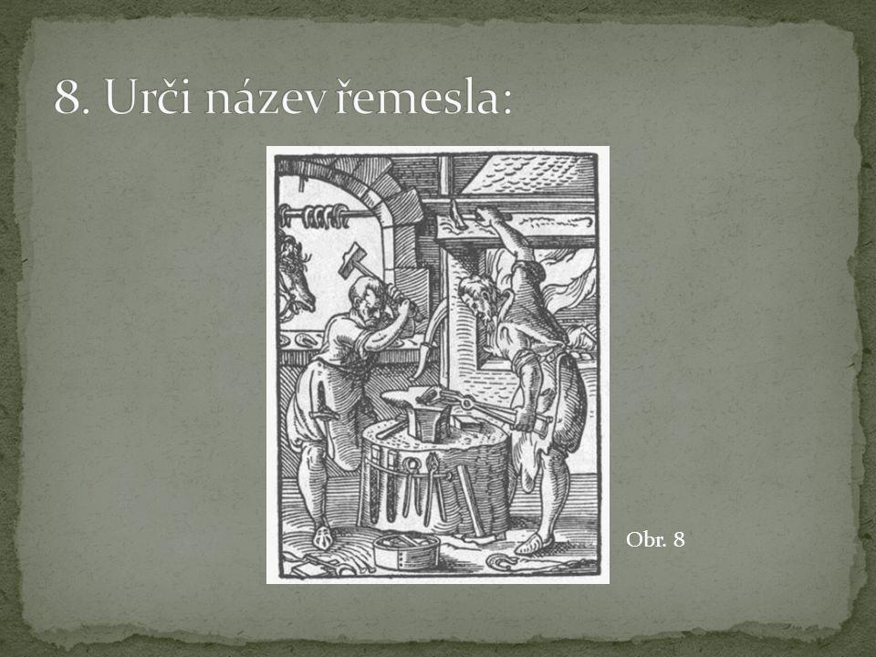 8. Urči název řemesla: Obr. 8