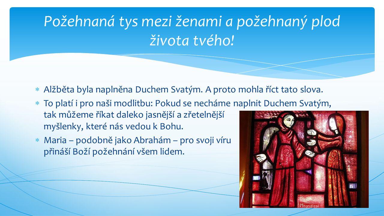 Požehnaná tys mezi ženami a požehnaný plod života tvého!