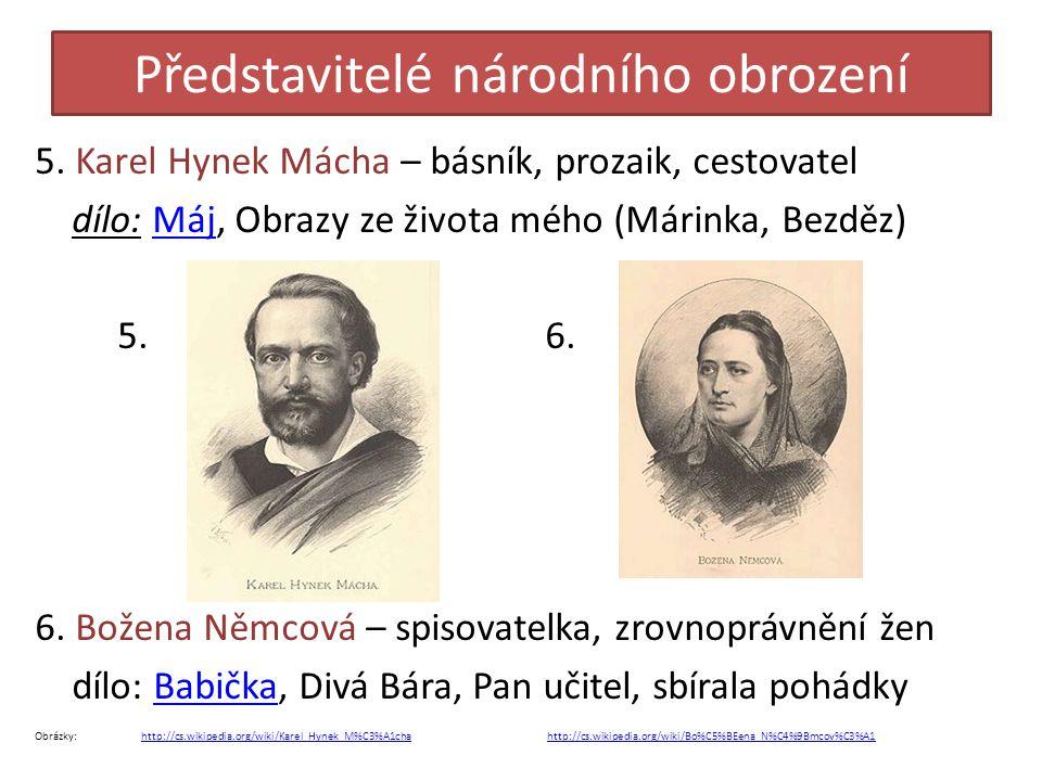 Představitelé národního obrození