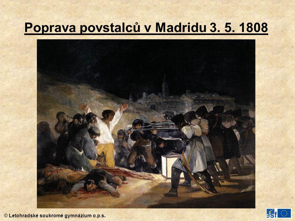 Poprava povstalců v Madridu 3. 5. 1808
