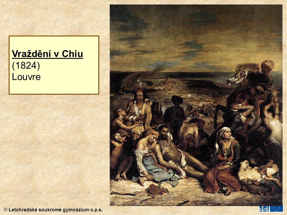 Vraždění v Chiu (1824) Louvre
