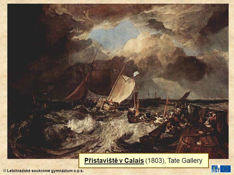 Přístaviště v Calais (1803), Tate Gallery