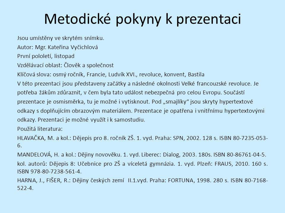 Metodické pokyny k prezentaci