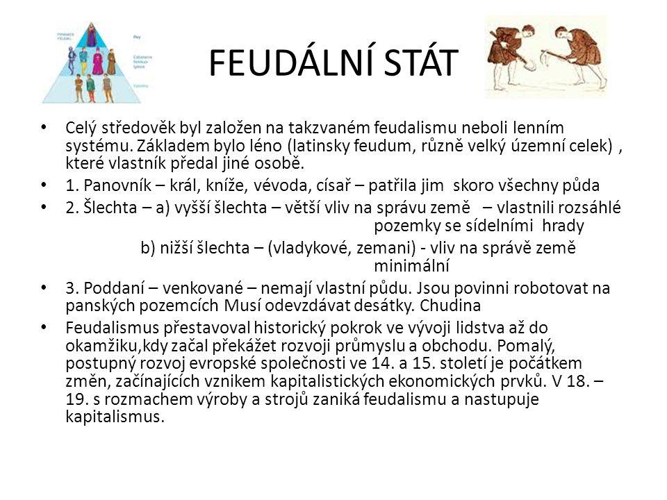 FEUDÁLNÍ STÁT