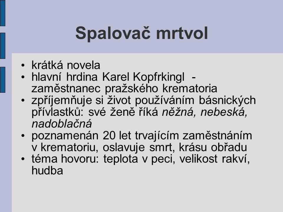 Spalovač mrtvol krátká novela