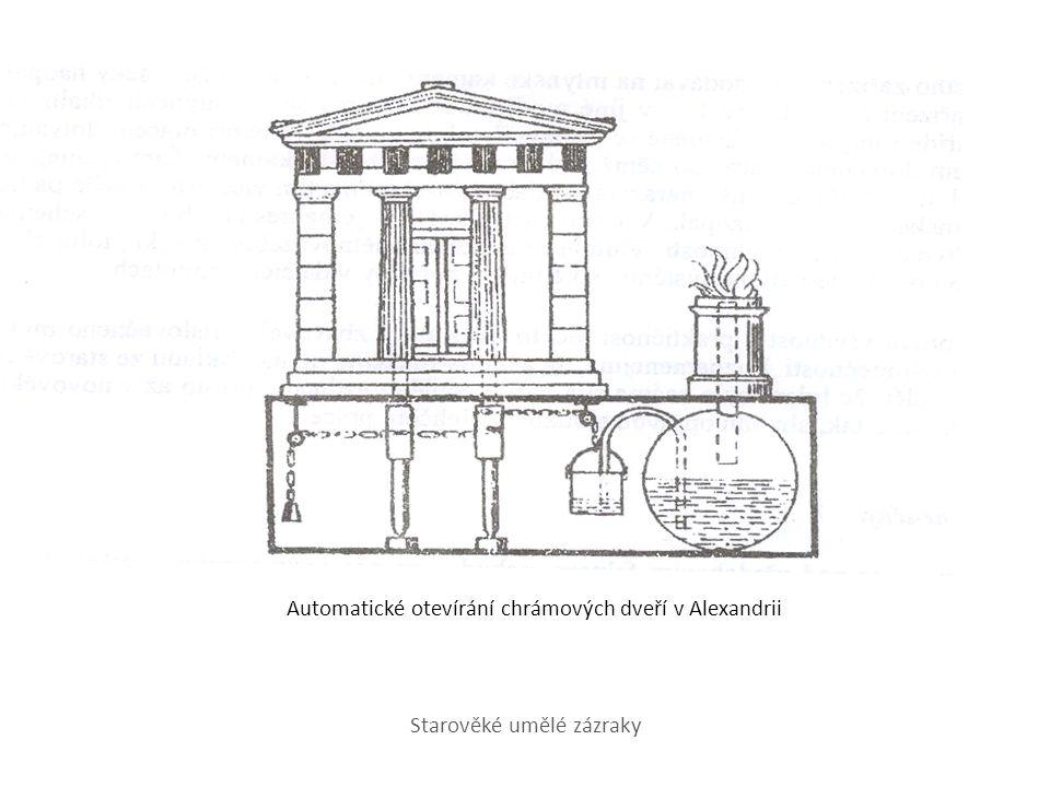 Automatické otevírání chrámových dveří v Alexandrii