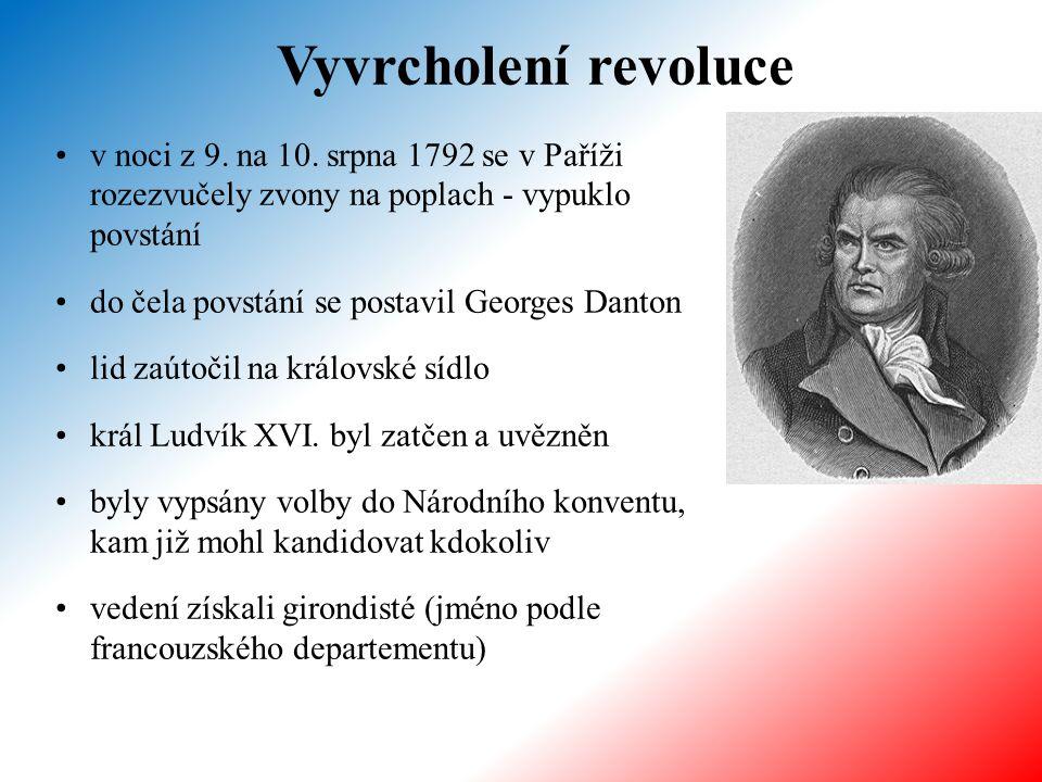 Vyvrcholení revoluce v noci z 9. na 10. srpna 1792 se v Paříži rozezvučely zvony na poplach - vypuklo povstání.