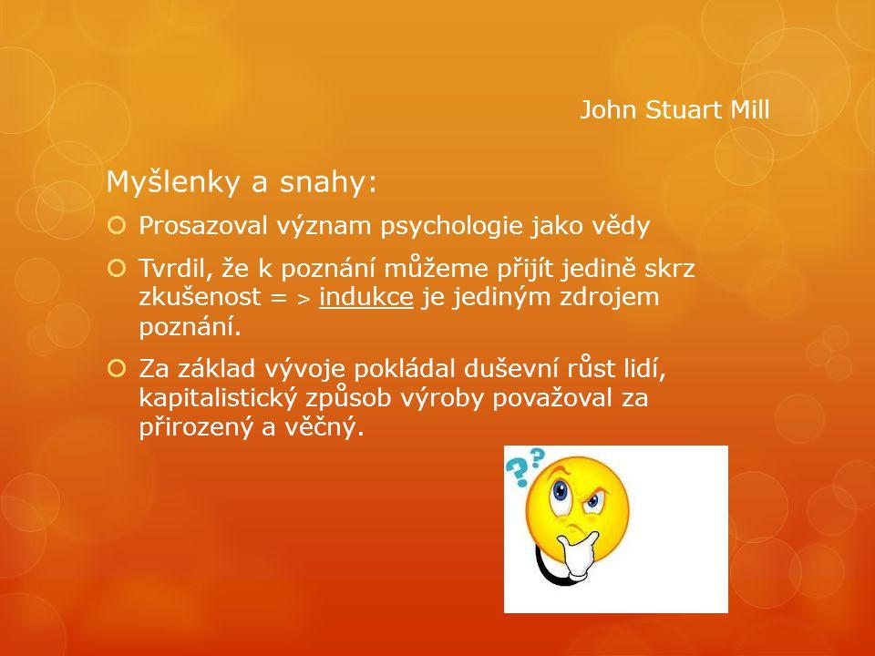 Myšlenky a snahy: John Stuart Mill