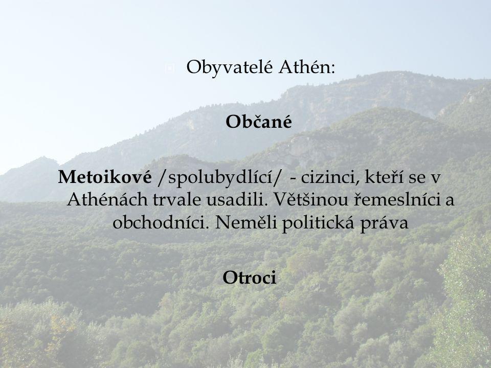 Obyvatelé Athén: Občané.