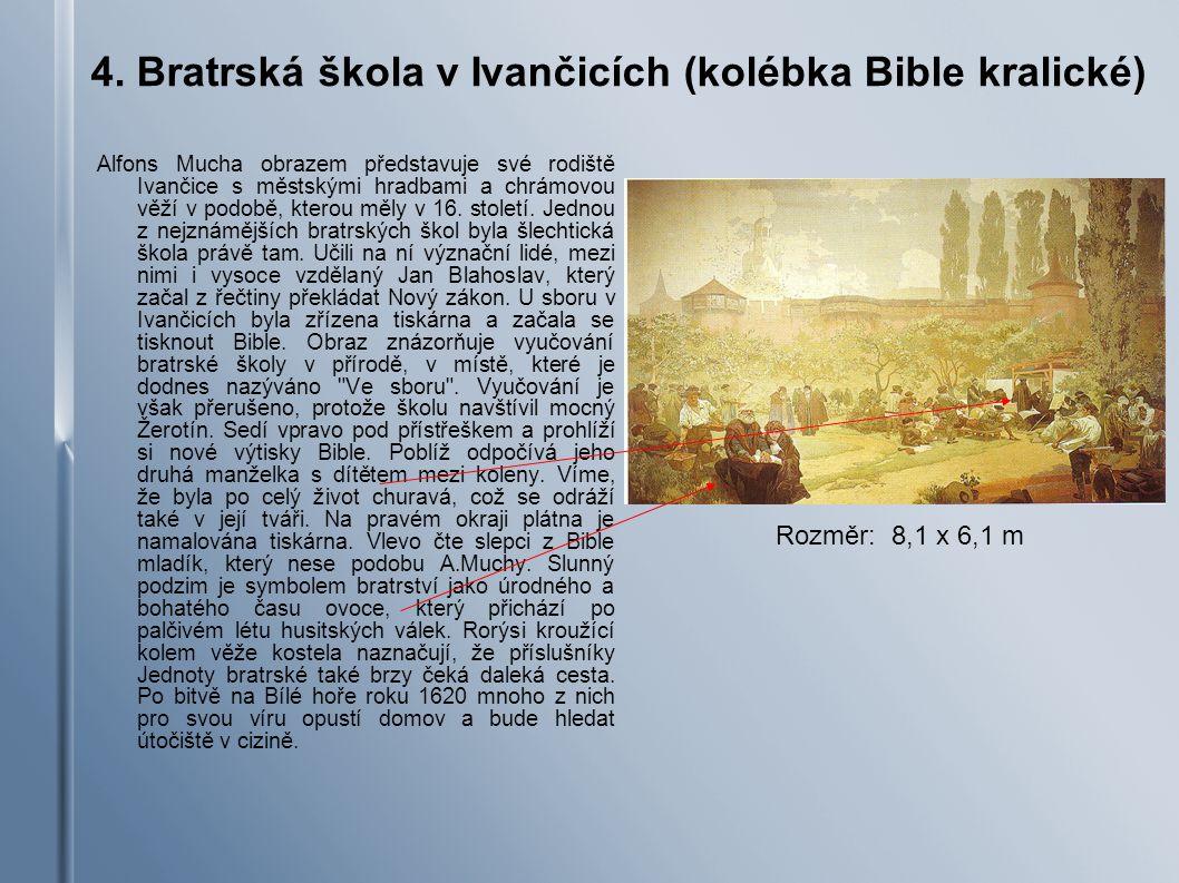 4. Bratrská škola v Ivančicích (kolébka Bible kralické)