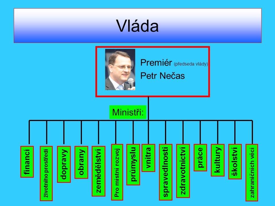 Vláda Premiér (předseda vlády) Petr Nečas Ministři: vnitra práce