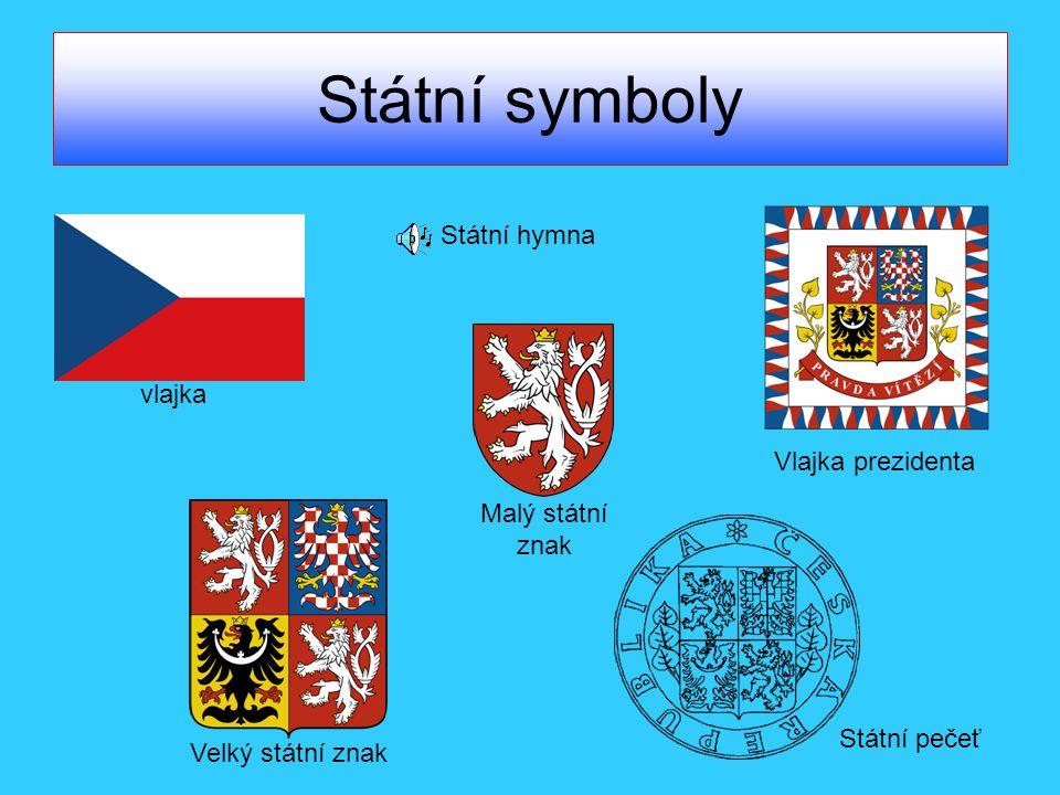 Státní symboly Státní hymna vlajka Vlajka prezidenta Malý státní znak