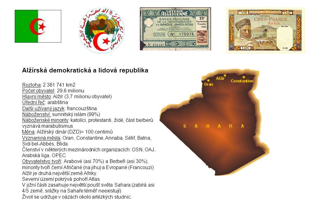 Alžírská demokratická a lidová republika