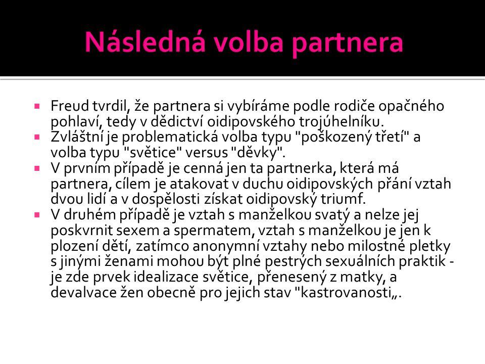 Následná volba partnera