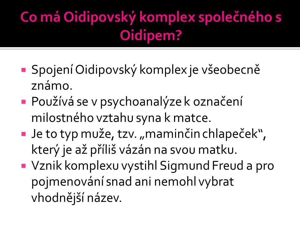 Co má Oidipovský komplex společného s Oidipem