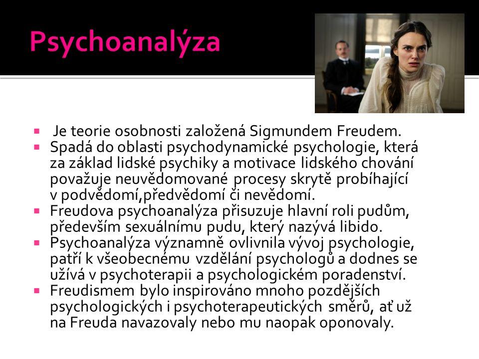 Psychoanalýza Je teorie osobnosti založená Sigmundem Freudem.