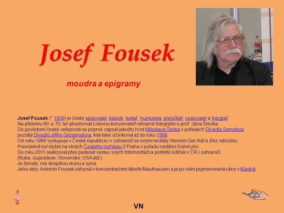 Josef Fousek moudra a epigramy VN