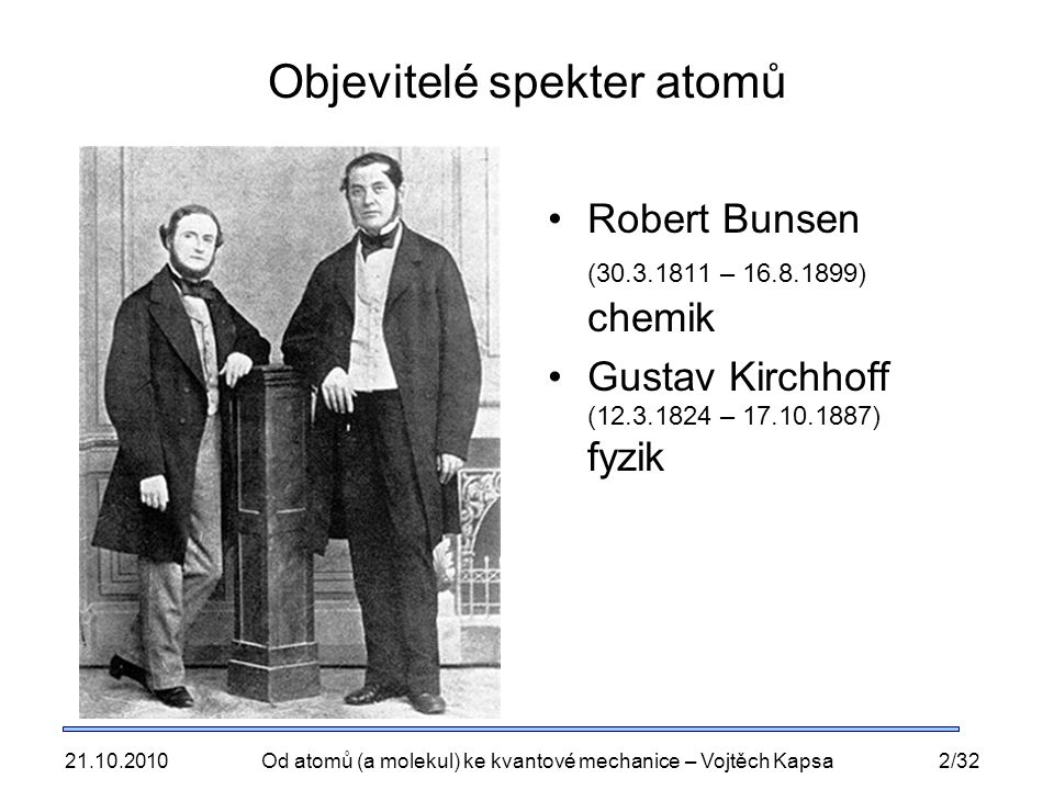 Objevitelé spekter atomů