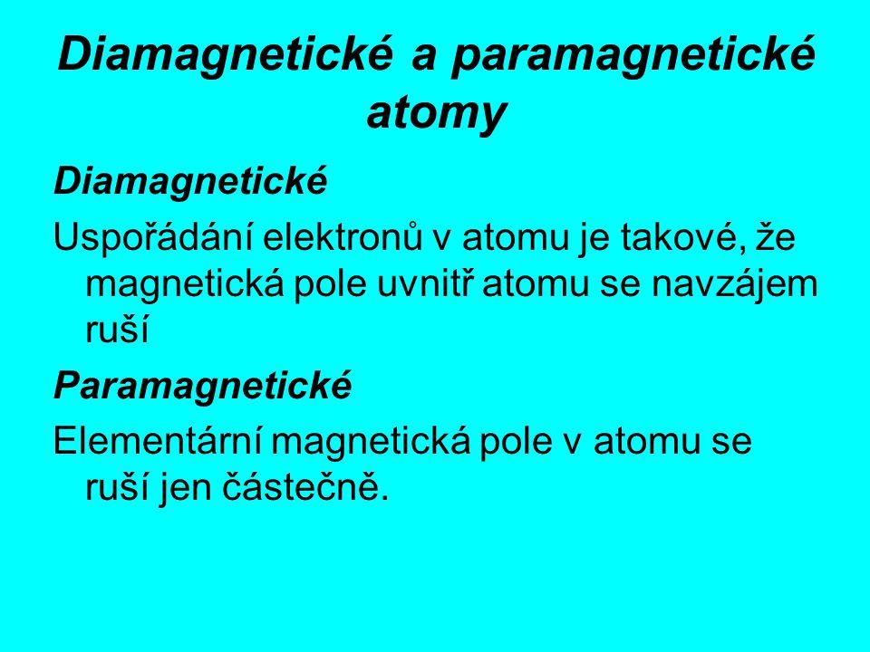 Diamagnetické a paramagnetické atomy