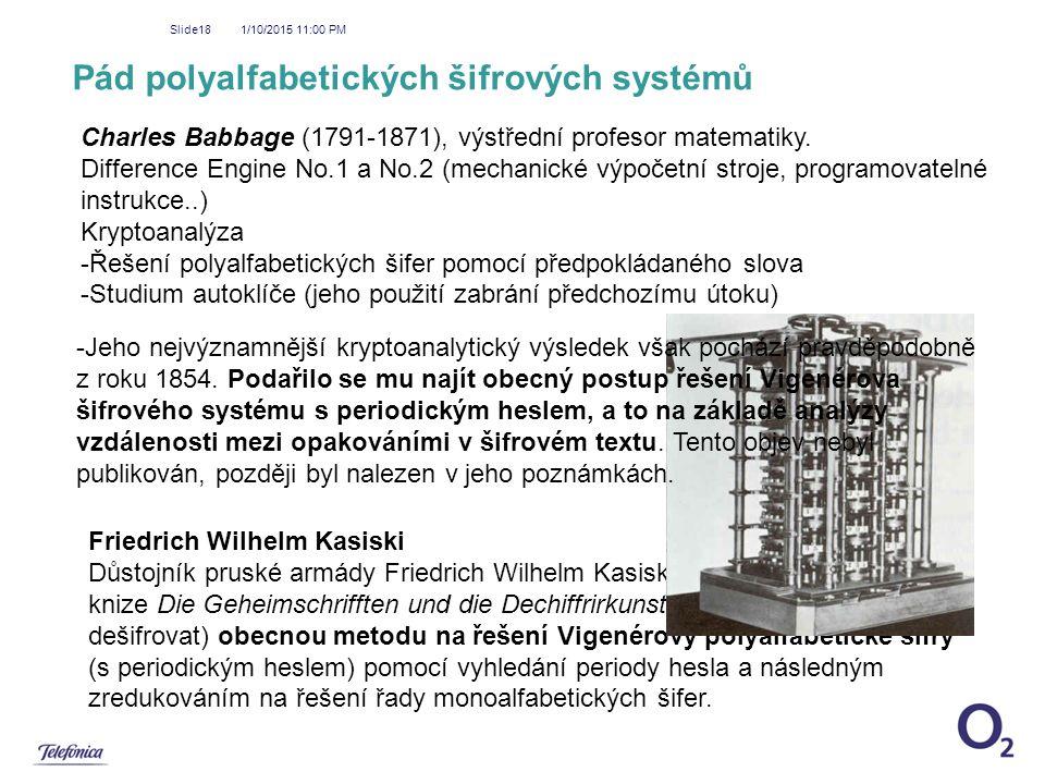 Pád polyalfabetických šifrových systémů