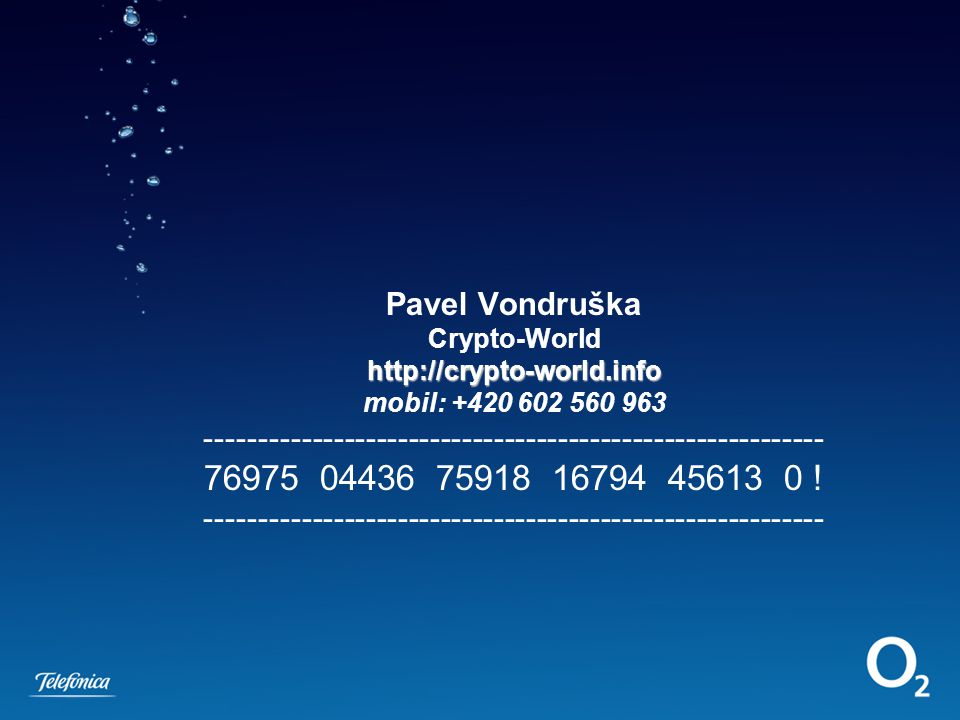 Pavel Vondruška Crypto-World http://crypto-world