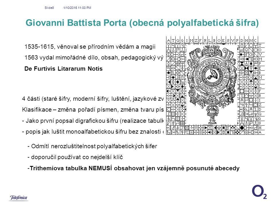 Giovanni Battista Porta (obecná polyalfabetická šifra)