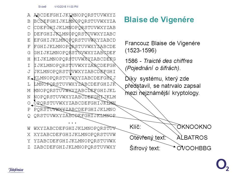 Blaise de Vigenére Francouz Blaise de Vigenére (1523-1596)